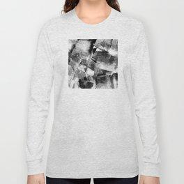 Block Print Textures Abstract Design Long Sleeve T-shirt