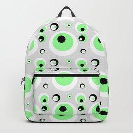 CRAZY CIRCLES - GREEN Backpack