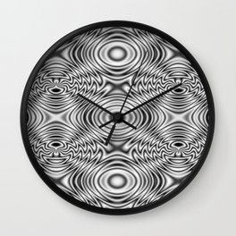 Spider theme B&W Bonitum Ornament #A Wall Clock