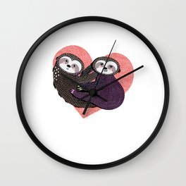 Sloth Lovers Gifts - Cute Lovely Sloth Heart Wall Clock