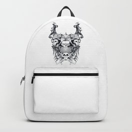 Japan samurai skull Backpack
