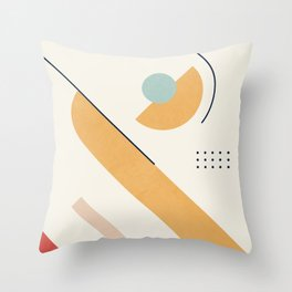 Clean Flow Geometry 7 Throw Pillow