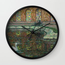 Water Parterre & Swans Palace of Versailles, France by Henri Le Sidaner Wall Clock