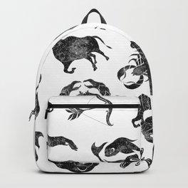 Zodiac Star Pattern Backpack