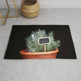 Lavender Plant Rug