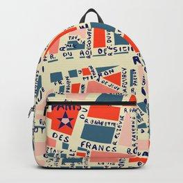 paris map blue Backpack