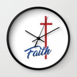 Christianity Church Faith Pastor Preacher God Jesus Believer Gift Faith Wall Clock