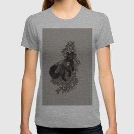 Black Fox and Star Flower Jasmine Tangle T-shirt