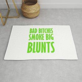 Bad Bitches smoke big blunts | Weed gift idea Rug