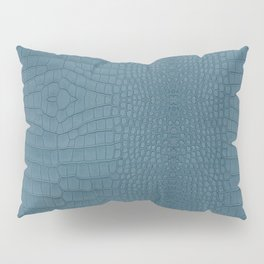 Turquoise Alligator Leather Print Pillow Sham