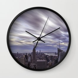 City at Sunset Wall Clock