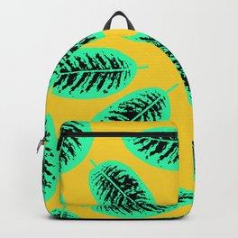 Dieffenbachia tropical leaf pattern Backpack
