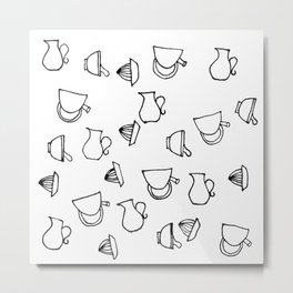 Drinking Tools in the Kitchen Marker Drawing Metal Print