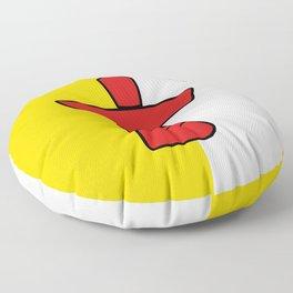 Nunavut Province flag Floor Pillow