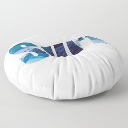 Surf waves  Floor Pillow