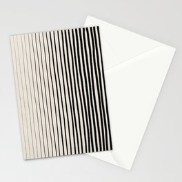 Black Vertical Lines Stationery Cards