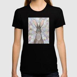 rabbit woodland animal portrait T-shirt