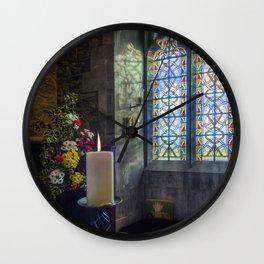 Joy and Light At Christmas Wall Clock