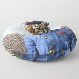 Postmaster Trenton Tigre on his Appointed Rounds Floor Pillow