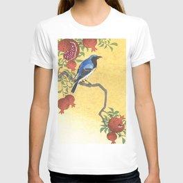 Siberian Robin On A Pomegranate Tree - Vintage Japanese Woodblock Print Art By Ohara Koson T-shirt