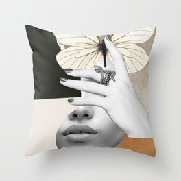 collage art / butterfly 2 Throw Pillow