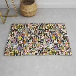 Face Mask Detour Party Rug