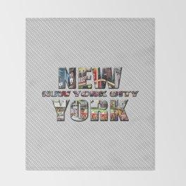 New York - New York City (color type on mono type) Throw Blanket