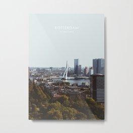Rotterdam Skyline Artwork Metal Print
