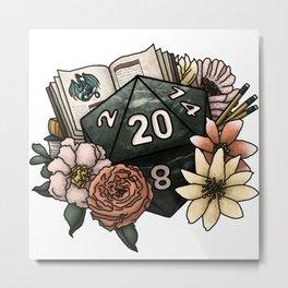 Dungeon Master D20 Tabletop RPG Gaming Dice Metal Print