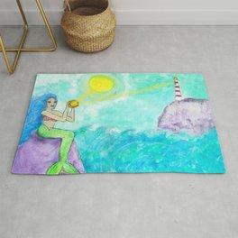 Lighthouse Mermaid, Oh Mermaids Rug