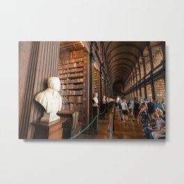 The Long Room of Trinity College Library in Dublin, Ireland Metal Print