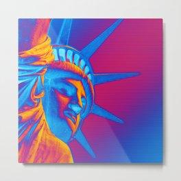 Pop Art Statue of Liberty Metal Print