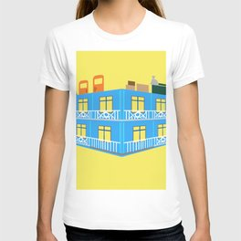 blue house T-shirt