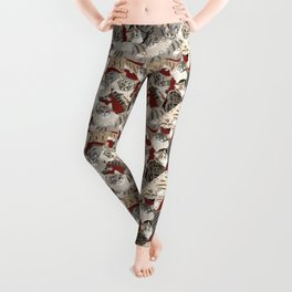 Cats Paradise Red Leggings