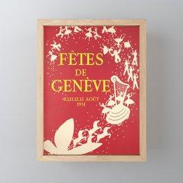 classic poster fetes de geneve 1951 fetes de geneve Framed Mini Art Print