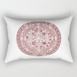 Aztec Calendar // Maroon Rectangular Pillow