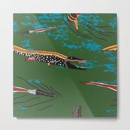 Aussie  Crocodiles2 Metal Print