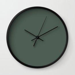 Simply Solid - Feldgrau Wall Clock