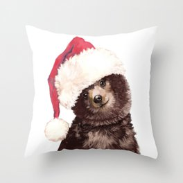Christmas Baby Bear Throw Pillow