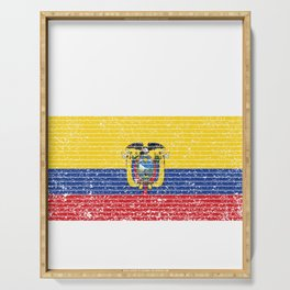 Ecuador Flag Vintage Ecuadorian National Country Gift Serving Tray