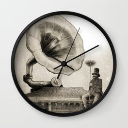 The Chimney Sweep (Monochrome) Wall Clock