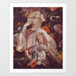 the hidden harmony *collage Art Print