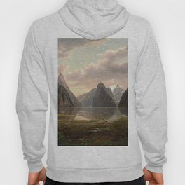 Milford Sound, New Zealand by Eu von Guerard  Romanticism  Landscape Hoody