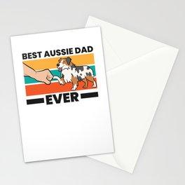 Best Aussie Papa Ever Australian Shepherd Dad Aussie Dad Stationery Cards