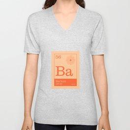 Periodic Elements - 56 Barium (Ba) Unisex V-Neck
