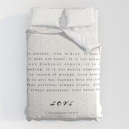 Love - 1 Corinthians 13:4-8 Comforters