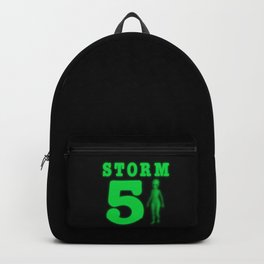 Storm Area 51 Bright Neon Green Alien Backpack