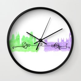WIT Tin Can Comms Wall Clock