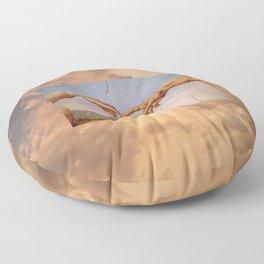 The Creation of Adam Michelangelo Cloudscape Hands Floor Pillow