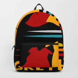 Retro Greyhound Backpack